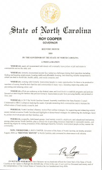 2020 Governor Reentry Proclamation